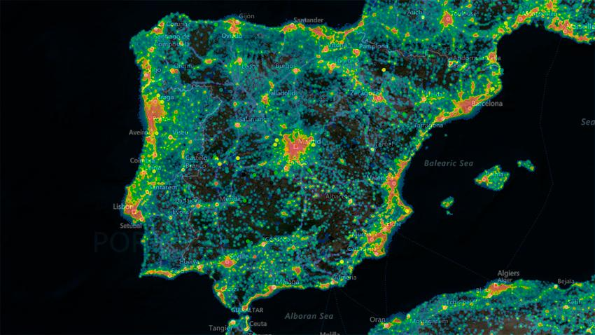 light pollution map mapa interactivo contaminacion luminica